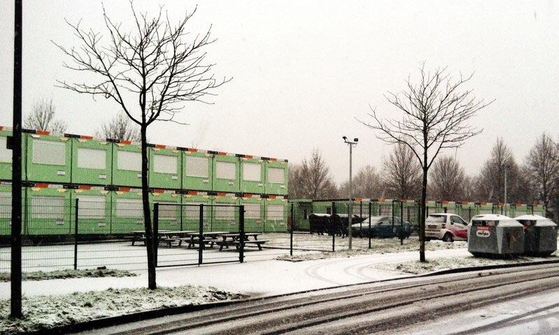 Flüchtlingscontainer in Blumenberg