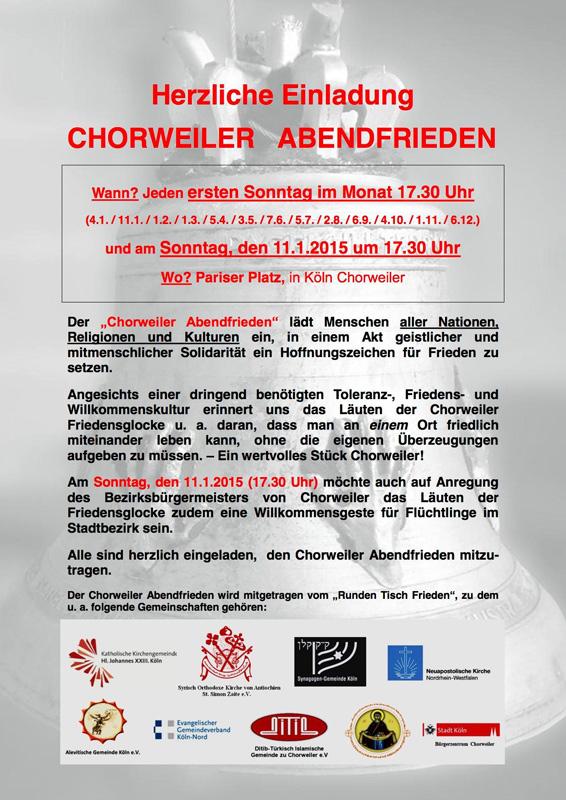 Einladung Chorweiler Abendfrieden 2015