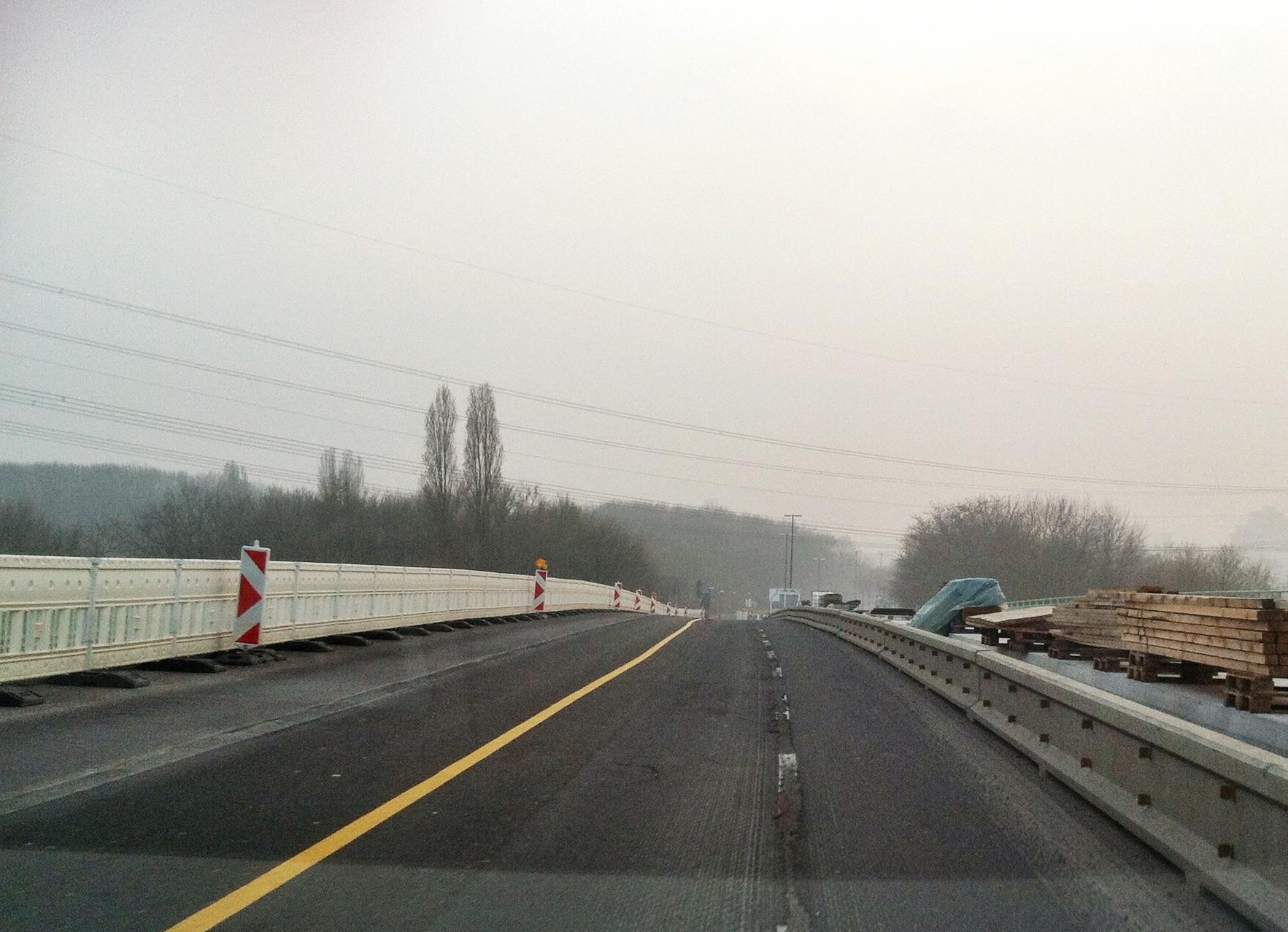 eil der Brücke Merianstraße ist erneuert - Ab Montag geänderte Verkehrsführung