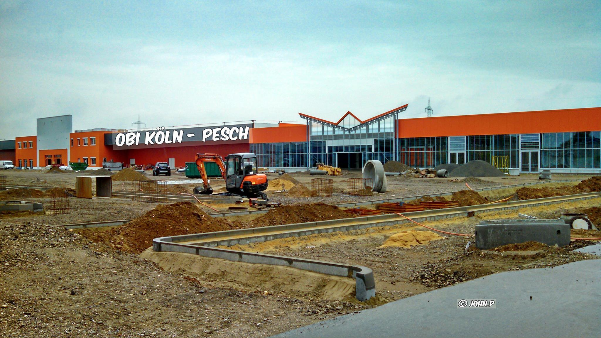 Der Künftige Baumarkt Obi in Köln-Pesch