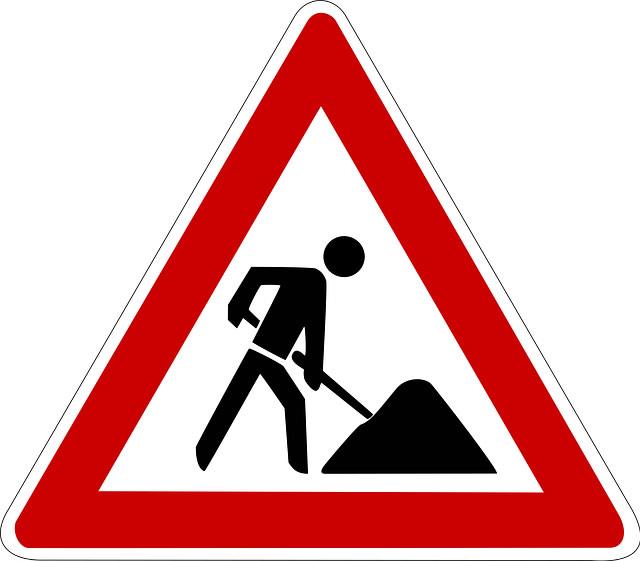 Bauarbeiten an der Neusser Landstraße