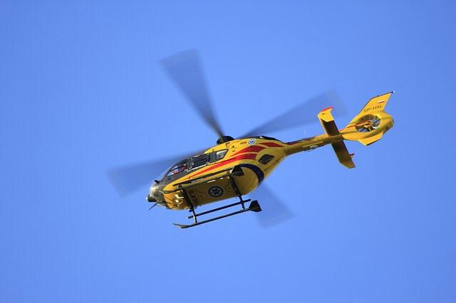 Das Unfallopfer wurde mit Hubschrauber ins Krankenhaus transportiert (Symbolfoto)