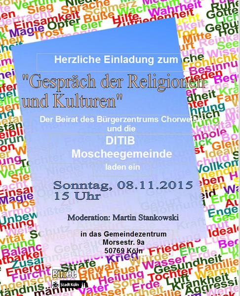 """Einladung zum """"Gespräch der Religionen und Kulturen"""""""