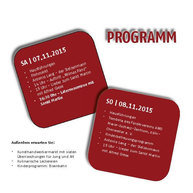 MJZ Martinsmarkt Programm 2015