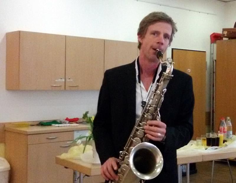 Till Heinzelmann am Saxophon