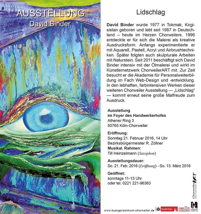 """Ausstellung """"Lindschlag"""" in Chorweiler, Flyer"""