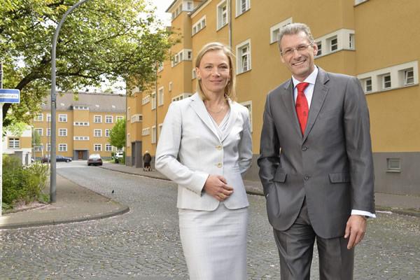 Vorstand der GAG Immobilien AG:  Kathrin Möller und Uwe Eichner. Foto: GAG Immobilien AG