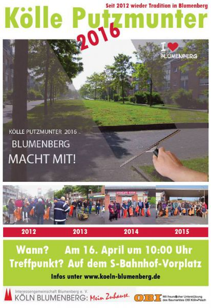 Kölle putzmunter-Plakat der IG Blumenberg e.V.