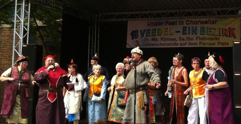 1. Kölner Mongolen Horde beim Fest der Kulturen in Chorweiler, 2014