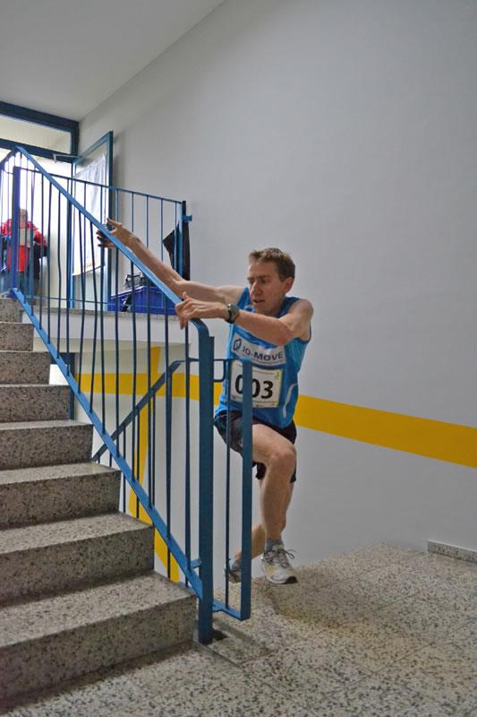 2. Hochhausmarathon: Deutscher Meister Christian Riedl, Foto: Sahle Wohnen