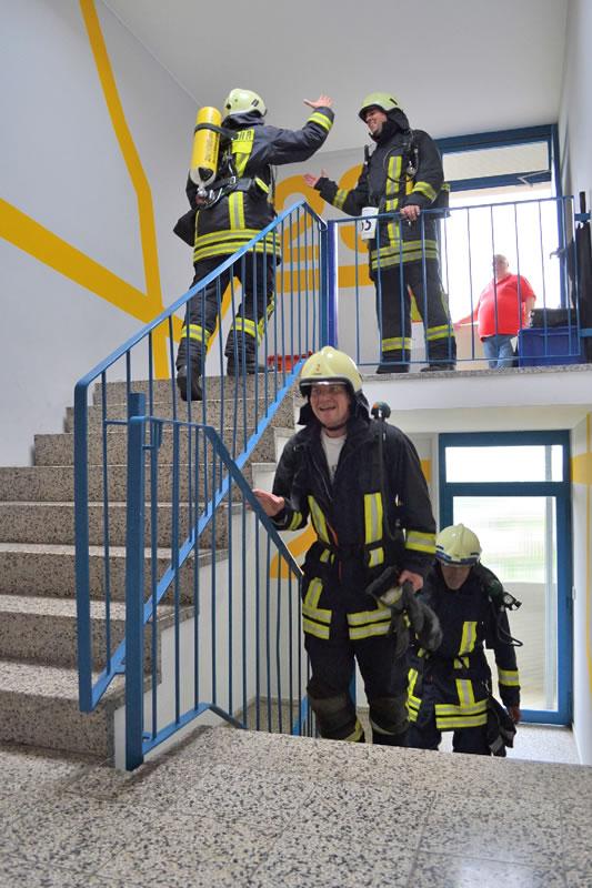 2. Hochhausmarathon: Feuerwehrleute, Foto: Sahle Wohnen