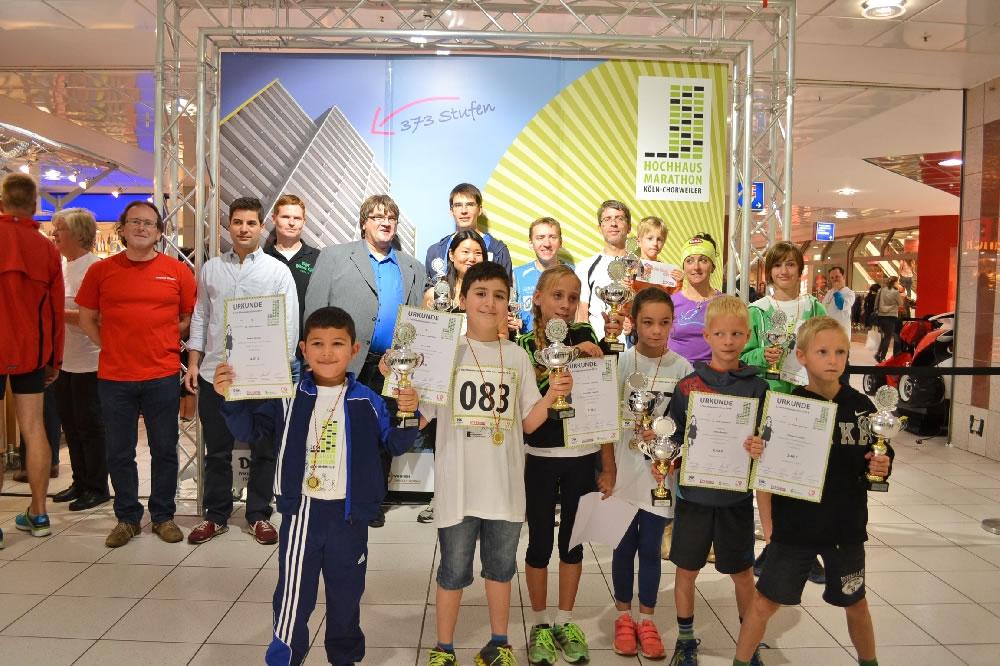 2. Hochhausmarathon: Junge Teilnehmer des Hochhausmarthons, Foto: Sahle Wohnen
