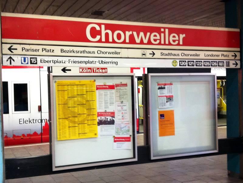 Chorweiler ist per ÖPNV gut angebunden