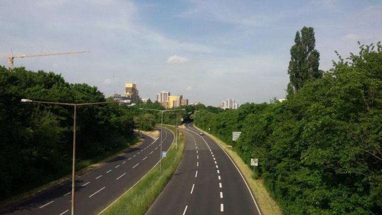 Der Zubringer zu A57 Richtung Köln