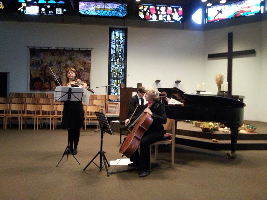 Auftritt des Jazz-Trios in Chorweiler