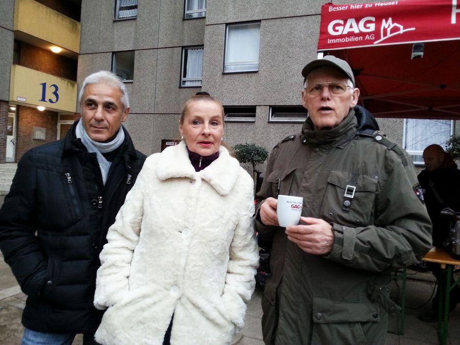GAG-Mieter Herr Gonzales, Frau Frisch und Herr Schlösser