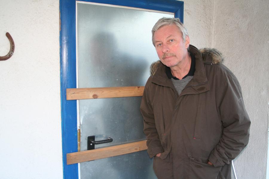 Latten auf die Tür: Viktors Maz improvisierte Sicherheitsmaßnahme.