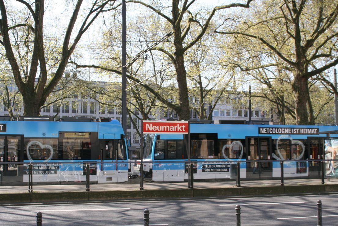 So sieht eine NetCologne-Straßenbahn aus