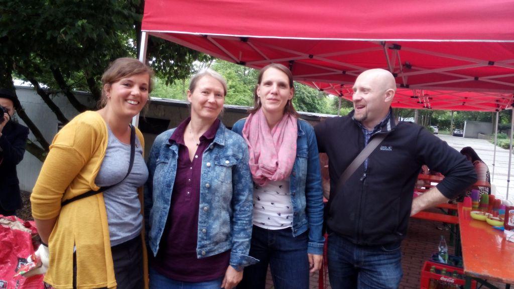 Das Team der GAG  (v. l. n. r.: Frau Özgentürk, Frau Klein (Teamleiterin), Frau Beyenburg,  Herr Friedrich).