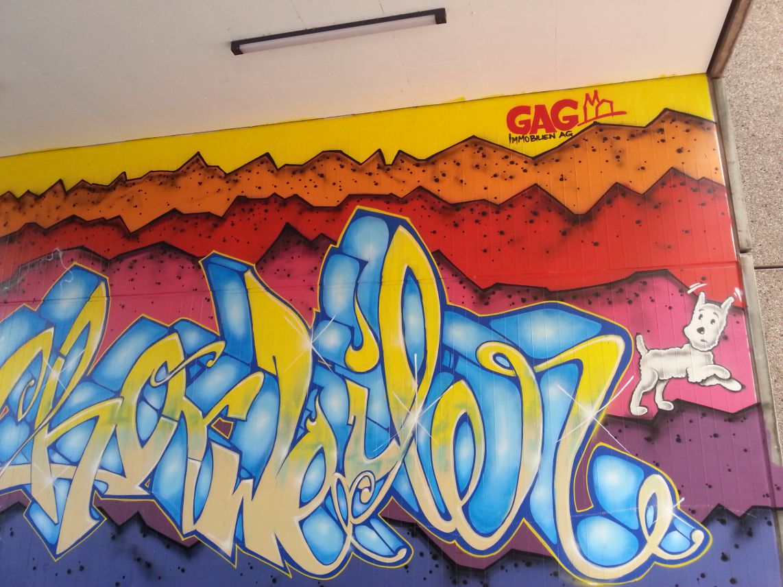 Graffitis von letztem Jahr.