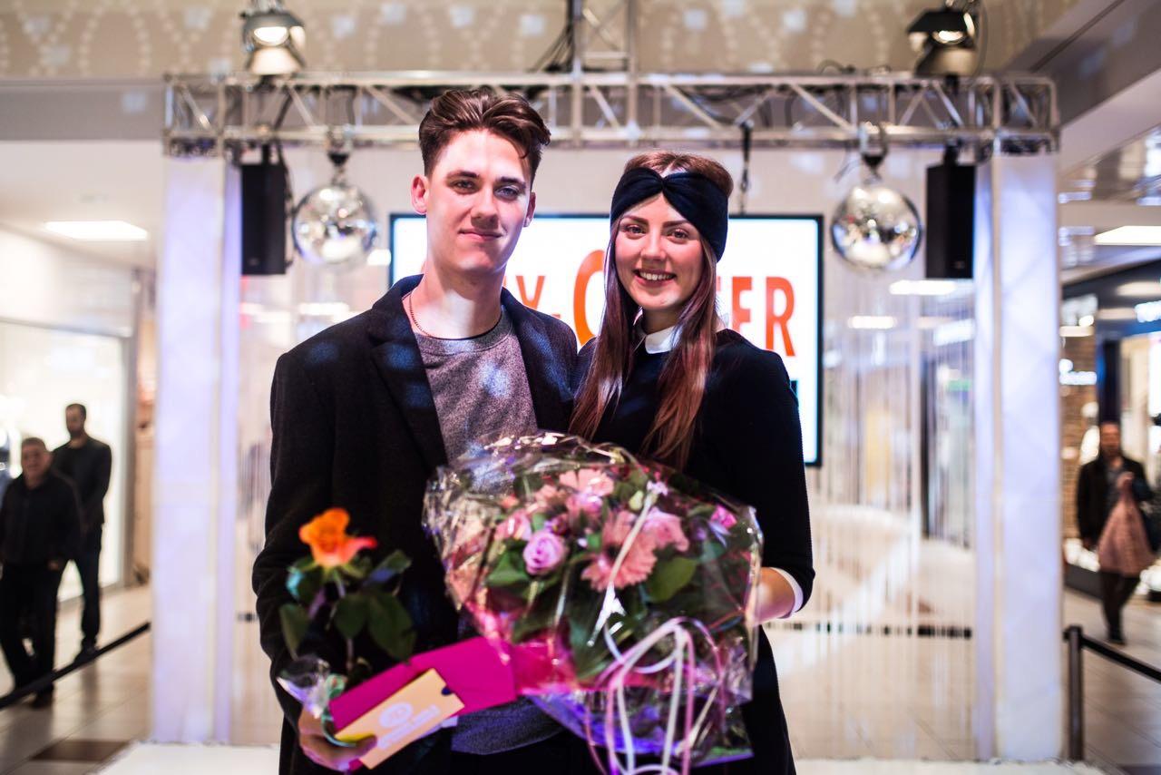 Die Gewinner: Jana Kubovsky und Alexander Weber.  (Foto: City-Center Chorweiler)