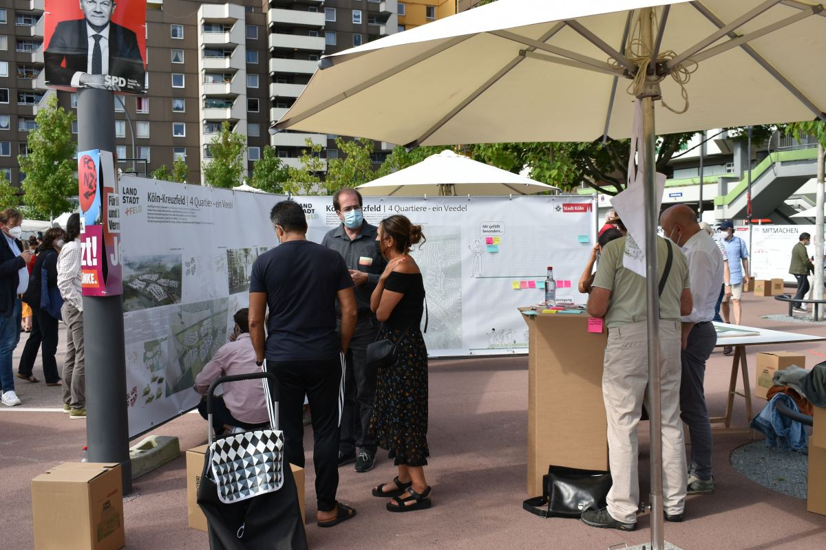 Sechs Planungsentwürfe zu Kreuzfeld in Chorweiler vorgestellt